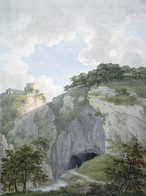 C19th Photograph - View Of Castle And Cavern At Castelton, Derbyshire by Harriet Lister