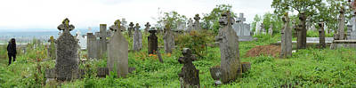 Romania Photograph - View Of Cemetery, Bradu, Arges County by Panoramic Images