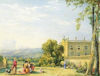 View Of Chatsworth, Derbyshire, C.1820 Art Print by Frances Elizabeth Swinburne