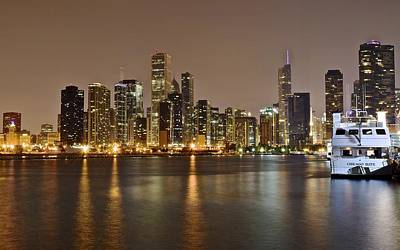 Athletes Royalty-Free and Rights-Managed Images - View of Chicago from Navy Pier by Frozen in Time Fine Art Photography