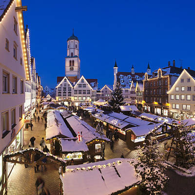 View Of Christmas Fair At St. Martins Art Print by Panoramic Images