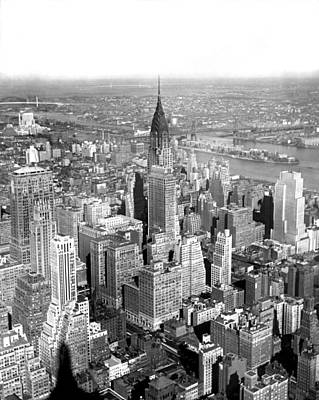 White River Scene Photograph - View Of Chrysler Building by Underwood & Underwood