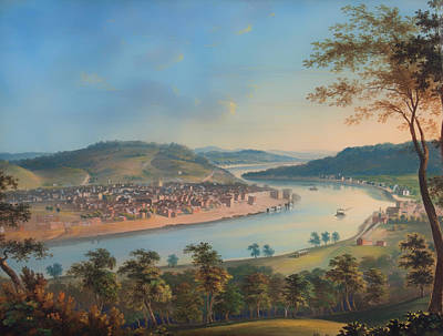 Kentucky Painting - View Of Cincinnati From Covington by Mountain Dreams