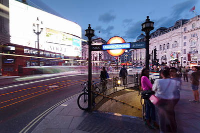 Crowd Scene Photograph - View Of City At Night, Piccadilly by Panoramic Images