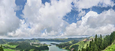Sao Miguel Island Photograph - View Of Clouds Over The Lake, Lagoa by Panoramic Images