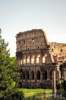 Photograph - View Of Colosseum by Prints of Italy