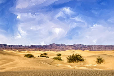 Death Valley Painting - View Of Death Valley by Dominic Piperata