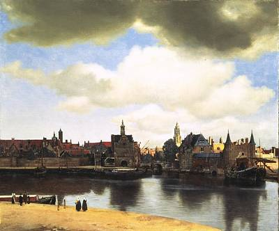 Wall Art - Painting - View Of Delft Vermeer by Johannes Vermeer