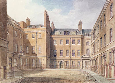 View Of Downing Street, Westminster Wc On Paper Print by John Buckler