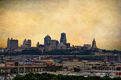 Photograph - View Of Downtown Kansas City Missouri by Liane Wright
