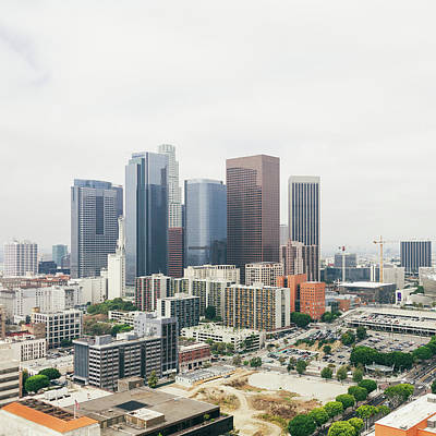 Photograph - View Of Downtown Los Angeles With The by Tuan Tran