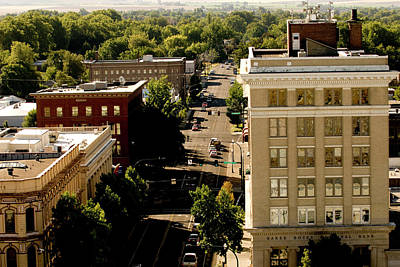 Wheeler Photograph - View Of Downtown Walla Walla, Walla by Nik Wheeler