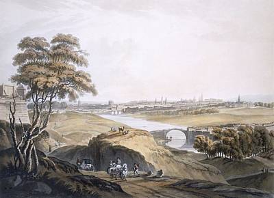 Rocky Drawing - View Of Dublin by Irish school