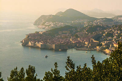 Photograph - View Of Dubrovnik Peninsula by Phyllis Peterson