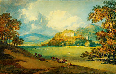 Northeast Painting - View Of Dunster Castle From The Northeast by Celestial Images