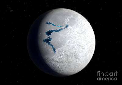 Changing Form Digital Art - View Of Earth 650 Million Years Ago by Walter Myers