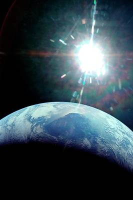 View Of Earth From Apollo 11 Spacecraft Art Print