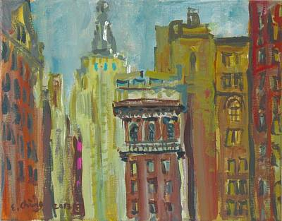 Painting - View Of Empire State 2 by Edward Ching