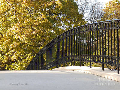 Photograph - View Of Fall Colors From Footbridge - M Landscapes Fall Collection No. Lf20 by Monica C Stovall