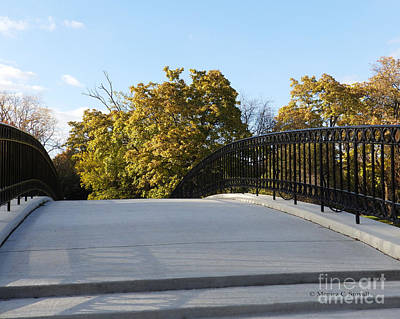Photograph - View Of Fall Trees From Footbridge - M Landscapes Fall Collection No. Lf21 by Monica C Stovall