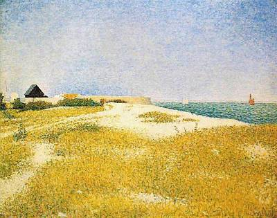 Hermitage Painting - View Of Fort Samson by Georges Seurat