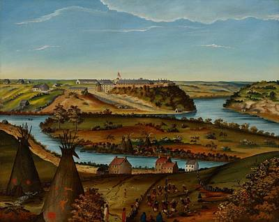 Tipi Painting - View Of Fort Snelling by Edward K Thomas