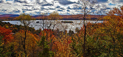 View Of Fourth Lake Above Eagle Bay Art Print by David Patterson