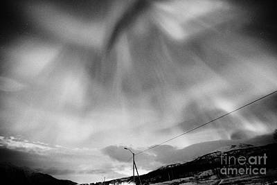 View Of Full Corona Northern Lights Aurora Borealis Near Tromso In Northern Norway Europe Art Print