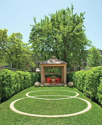 Photograph - View Of Gazebo In Garden by Billy Cunningham