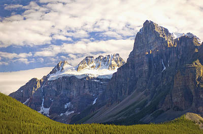 View Of Glacial Mountains And Trees In Art Print by Laura Ciapponi