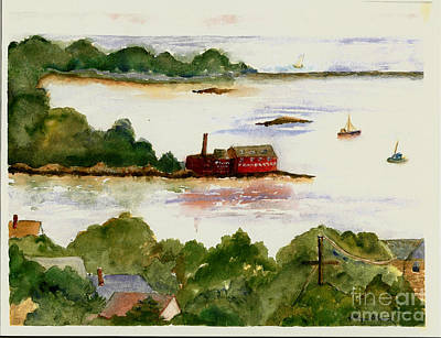 Eastern Point Painting - View Of Gloucester Harbor by Kathryn G Roberts