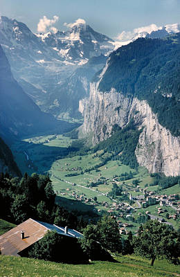 Amazing View Of Swiss Valley Art Print by Carl Purcell