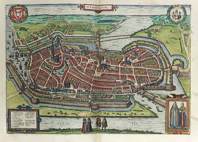 View Of Hamburg Art Print by British Library