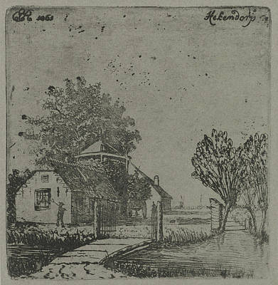 View Of Hekendorp, Eberhard Cornelis Rahms Art Print