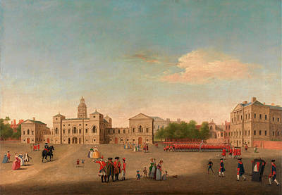 View Of Horse Guards And Whitehall, London  Unknown Artist Art Print by Litz Collection