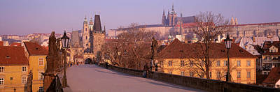 Prague Photograph - View Of Houses Along The Charles by Panoramic Images