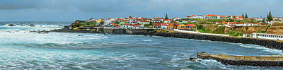 Sao Miguel Island Photograph - View Of Houses On The Coast, Sao Miguel by Panoramic Images