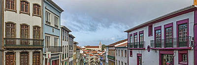 Azores Photograph - View Of Houses On The Street, Angra by Panoramic Images