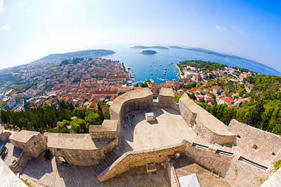 Red Roof Photograph - View Of Hvar by Alexey Stiop