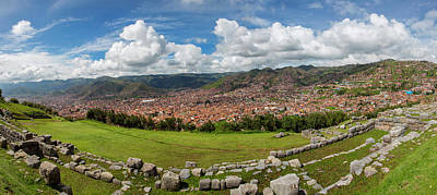 Ancient Civilization Photograph - View Of Inca Archaeological Site by Panoramic Images