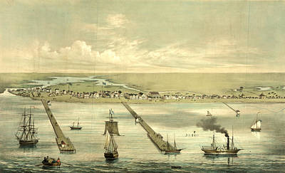 1860 Drawing - View Of Indianola Taken From The Bay, On The Royal Yard by Litz Collection