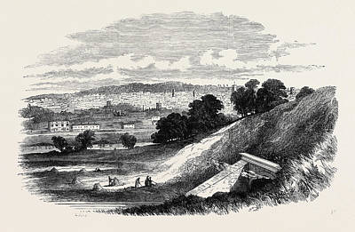 Outlook Drawing - View Of Ipswich, From Store Hill by English School