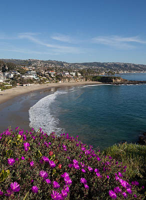 View Of Laguna Beach Art Print by Cliff Wassmann