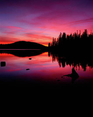 View Of Lake At Sunset, Fish Lake Art Print