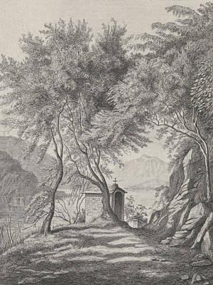 Lake Como Drawing - View Of Lake Como, David Van Der Kellen IIi by Artokoloro