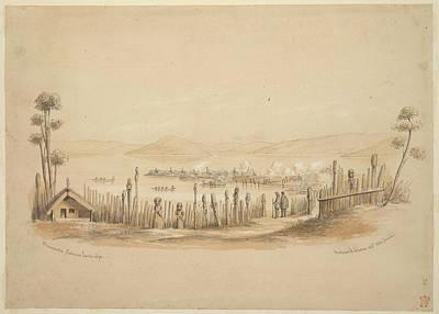 Rotorua Photograph - View Of Lake Rotorua by British Library