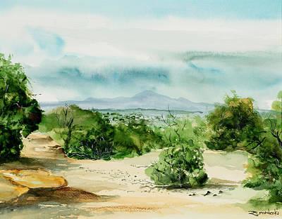 Painting - View Of Laplata Mountains by Richard Mordecki