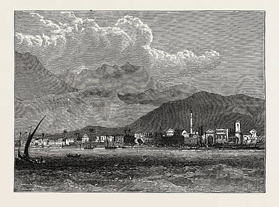 Cyprus Drawing - View Of Larnaka, Cyprus by Litz Collection
