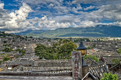View Of Lijiang Old Town Art Print by James Wheeler