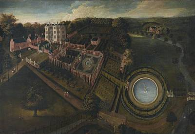 English School Painting - View Of Llanerch Park by Celestial Images